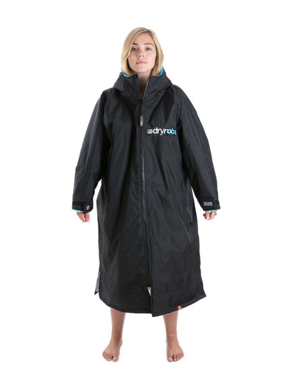 Dry Robe Long Sleeve Black-Blue Medium