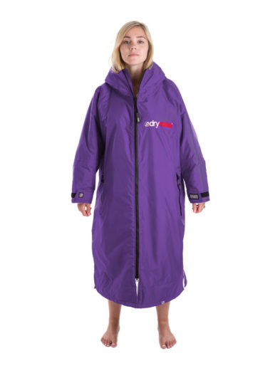 Dry Robe Long Sleeve Womens Purple-Grey