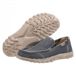 Farty Braided Natural Blue Organic Sole