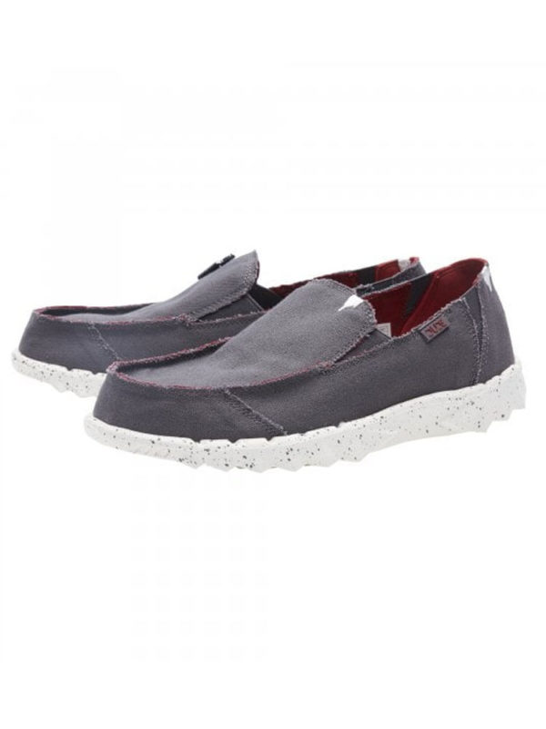 Farty Funk Grey Burgundy Pair