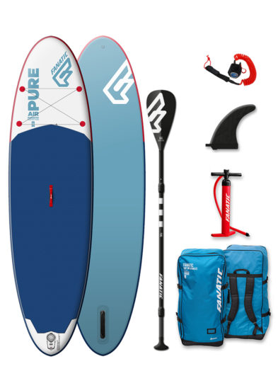 "2019 Fanatic Pure 10'4 x 33"" iSUP Inflatable SUP Paddleboard Package"