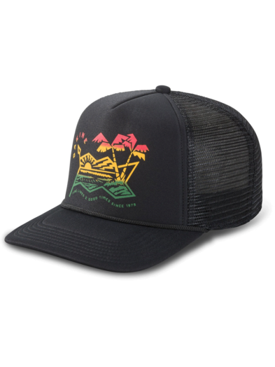 Dakine Electric Sunset Trucker Baseball Cap Hat - Black
