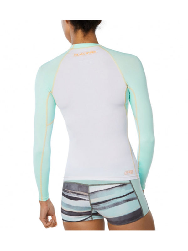 Dakine Flow Snug Fit Long Sleeve Rash Vest 10002331 - Pastel Current Rear