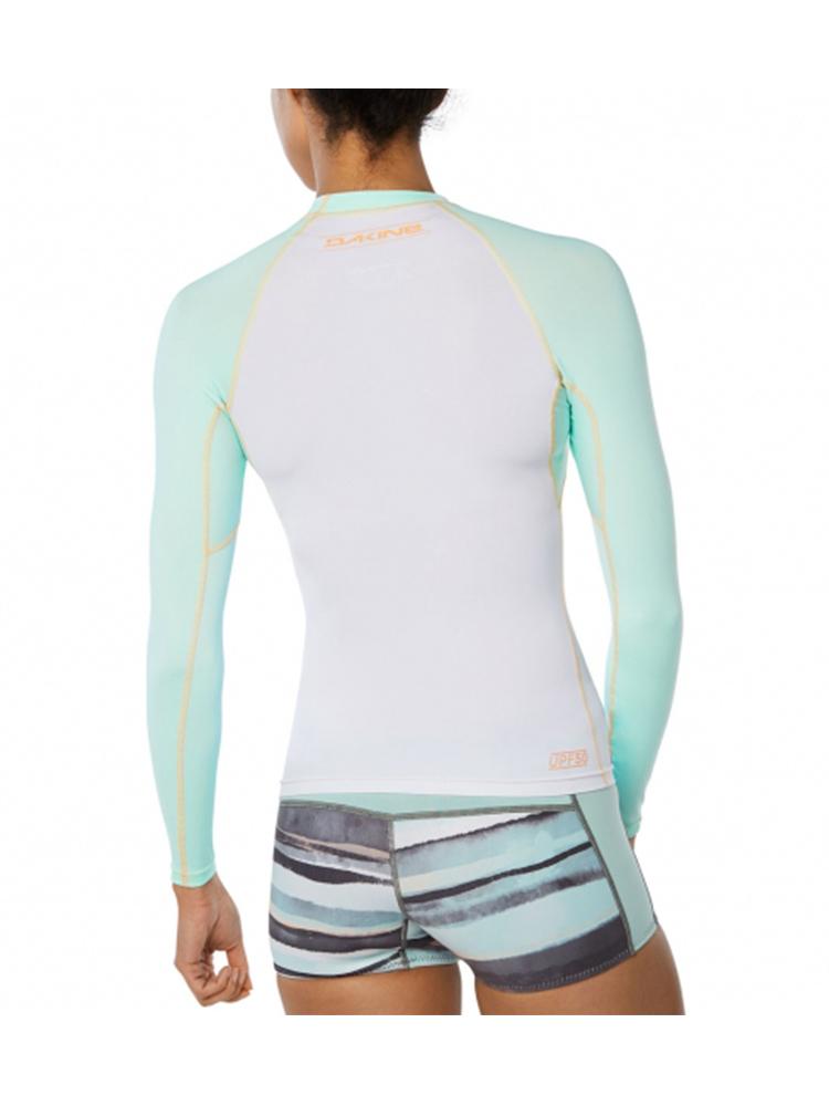 Flatlock seams 6.5 oz loose fit surf shirt DAKINE Womens Dauntless Loose Fit Short Sleeve Rash Vest Top Pastel Heather