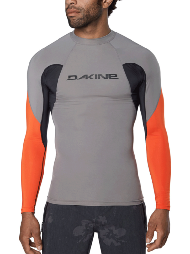 Dakine Heavy Duty Snug Fit Long Sleeve Rashguard 10002280 Carbon