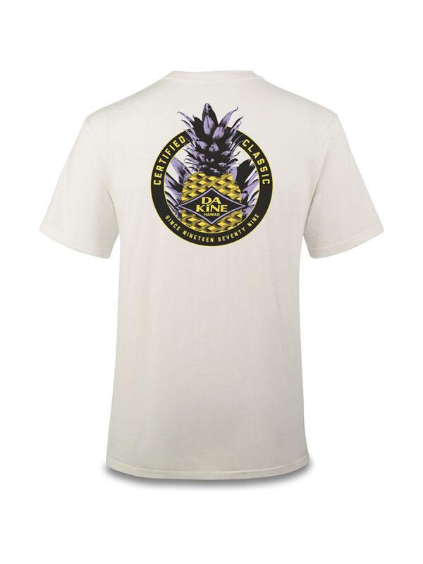Dakineapple Cotton Short Sleeved T'Shirt Rear - Off White