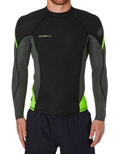 O'Neill Hyperfreak Technobutter Neoprene 0.5mm Long Sleeve Top Black Green