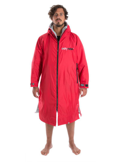 Dryrobe Advanced Long Sleeve Red Grey