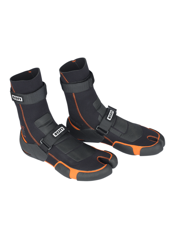 ION 3/2mm Magma Split Toe Wetsuit Boots - Black/ Orange