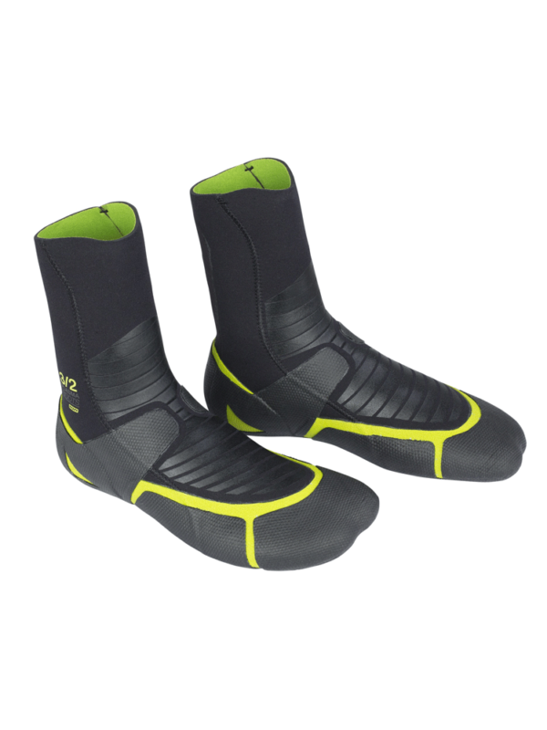 ION 3/2mm Plasma Round Toe Wetsuit Boots - Black/ Green