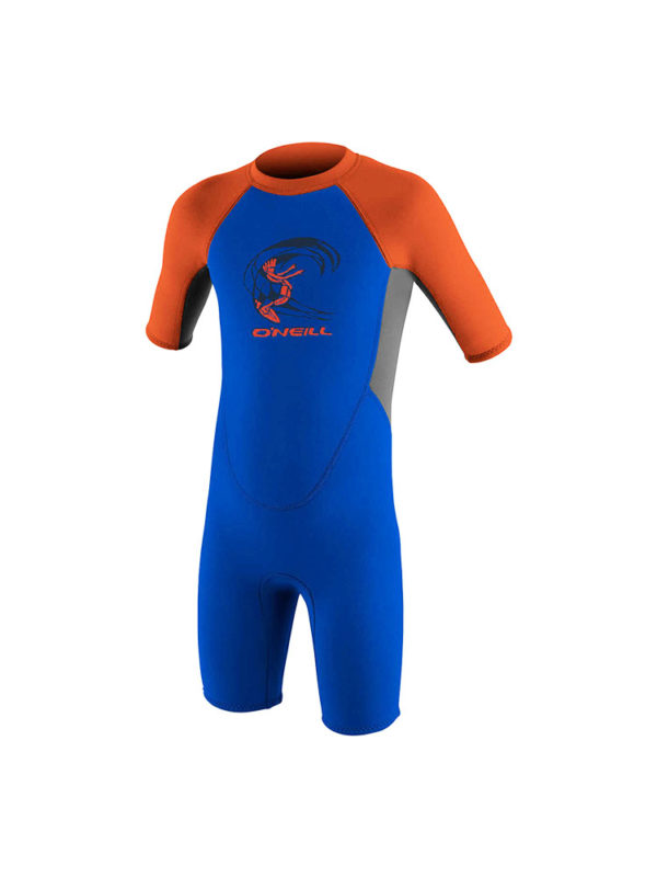 O'neill Toddler Reactor shorty 2mm Summer Wetsuit Blue orange