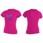 O'Neill Girls Premium Skins Short Sleeved Sun Shirt Pink