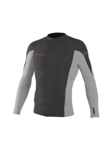 O'Neill Hyperfreak Technobutter Neoprene 0.5mm Long Sleeve Top White Grey XXL Only