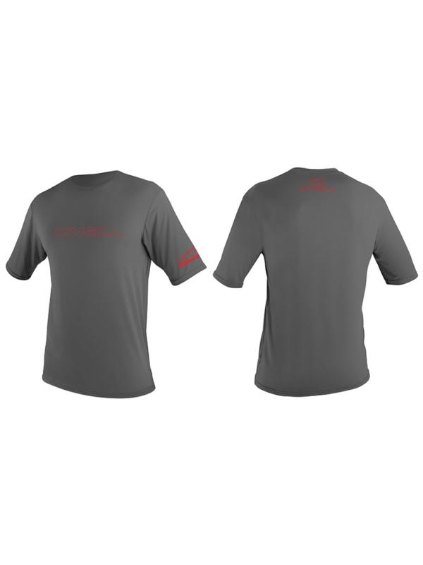 O'Neill Youth Basic Skins Short Sleeved Sun Shirt/ Rash Vest - Graphite