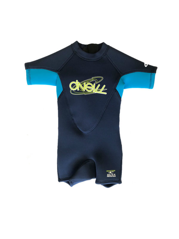 O'neill Toddler Reactor Shorty 2mm Summer Wetsuit Light Blue Navy