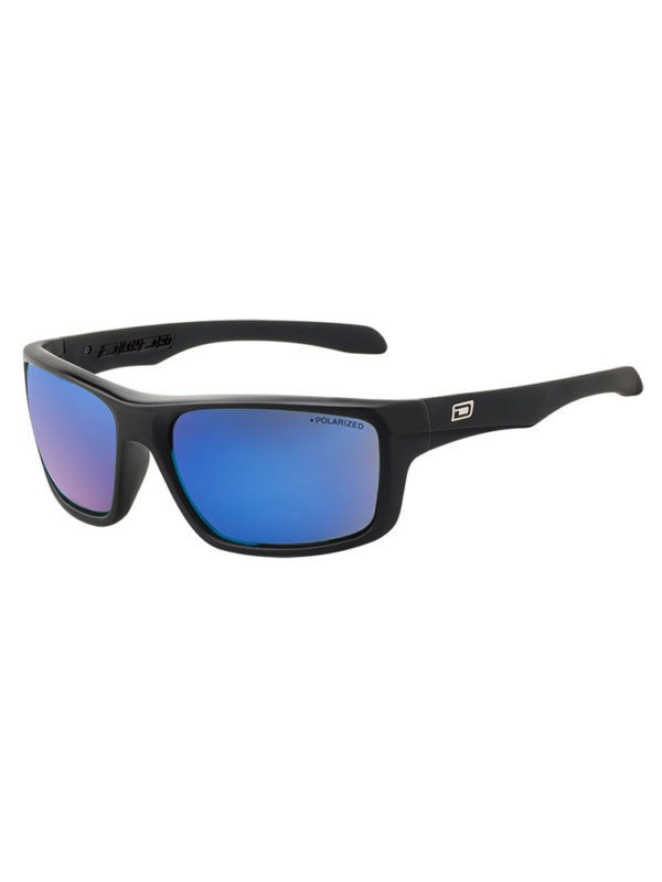 Dirty Dog Sunglasses - Axle - Satin Black - Blue Lens - 53353