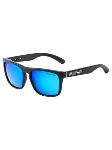 Dirty Dog Sunglasses - Monza - Black Green/Ice Blue Mirror Lens - 53267