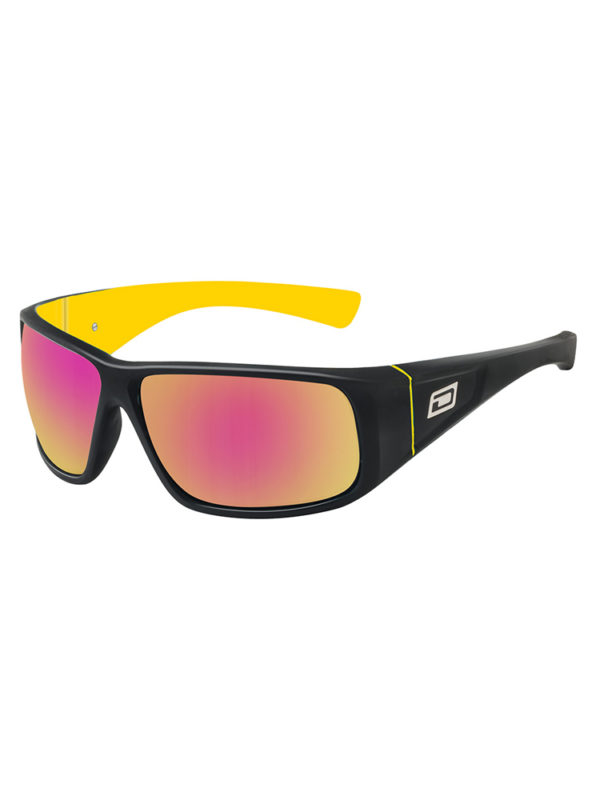 Dirty Dog Sunglasses - Ultra - Black Yellow - Grey/Red Fusion Lens - 53298