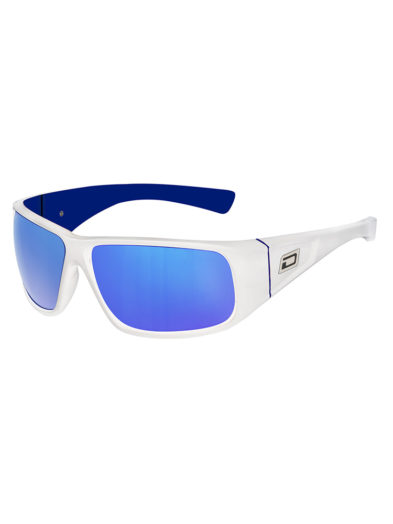 Dirty Dog Sunglasses - Ultra - White/Blue - Grey/Blue Fusion Lens - 53299