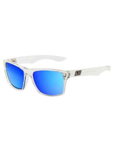 Dirty Dog Sunglasses - Vendetta - Crystal Grey/Blue Fusion Lens 53247