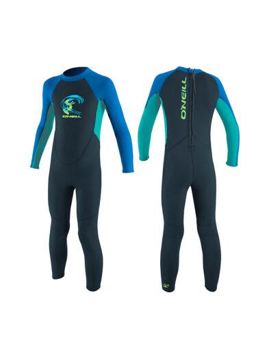 O'Neill Toddler Reactor-2 2mm Back Zip Full Wetsuit - Blue