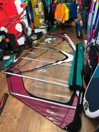 Second Hand Tushingham Bolt 7.5m Purple Windsurfing Sail