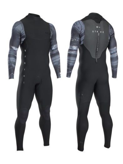 2020 ION Strike Amp Semidry 5/4mm Back Zip DL Wetsuit - Black Grey Capsule 48202-4406