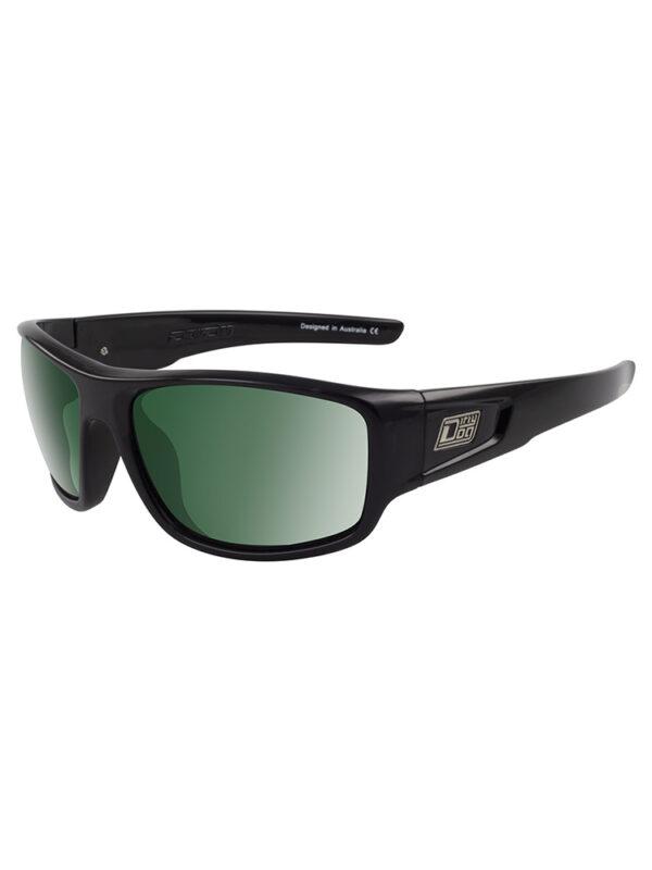 Dirty Dog Sunglasses Muffler - Black Green Polarised Lens