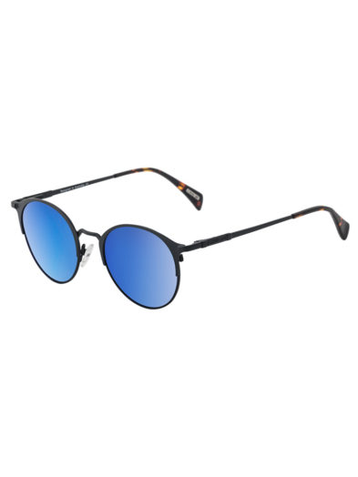 Dirty Dog Sunglasses Howl - Black Blue Mirror Polarised Lens