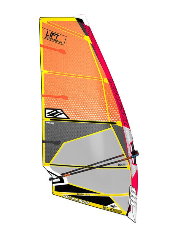 2020 Naish Lift Freerace Sail - Orange/Grey