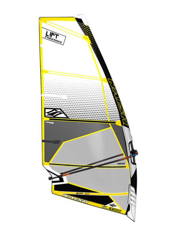 2020 Naish Lift Freerace Sail - White/Grey
