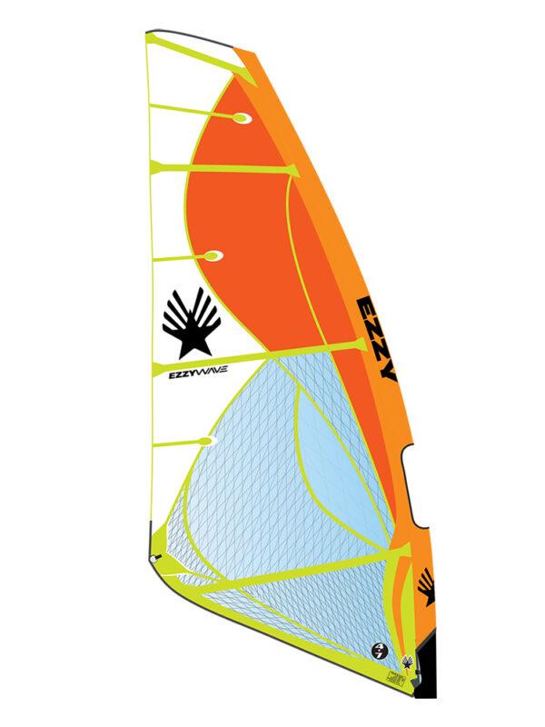 2020 Ezzy Wave Windsurfing Sail Orange