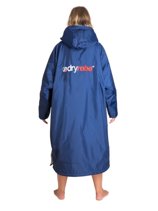 DryRobe Navy-Grey Woman Back LongSleeve