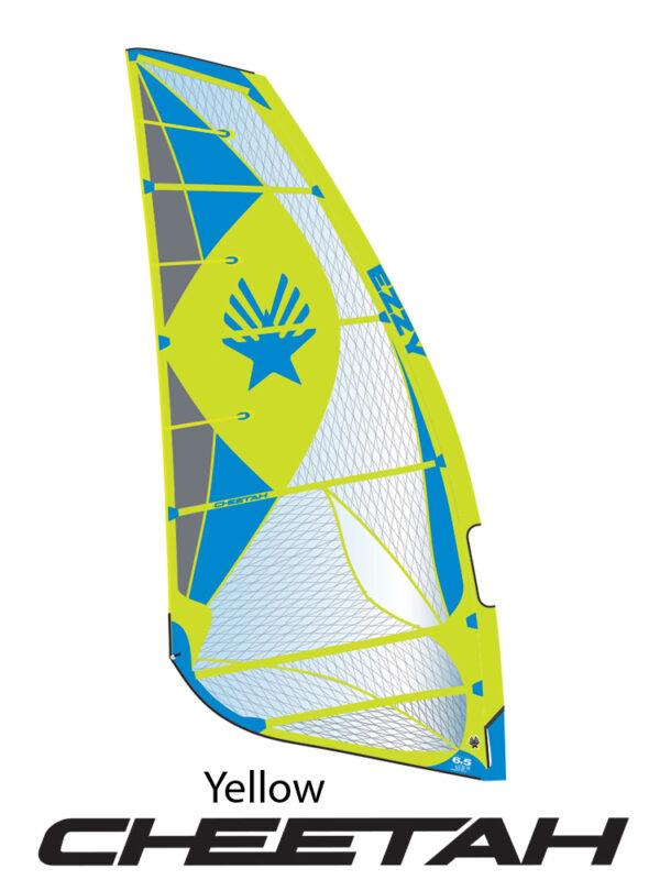 2019 Ezzy Cheetah Fast Freeride Windsurfing Sail - Yellow