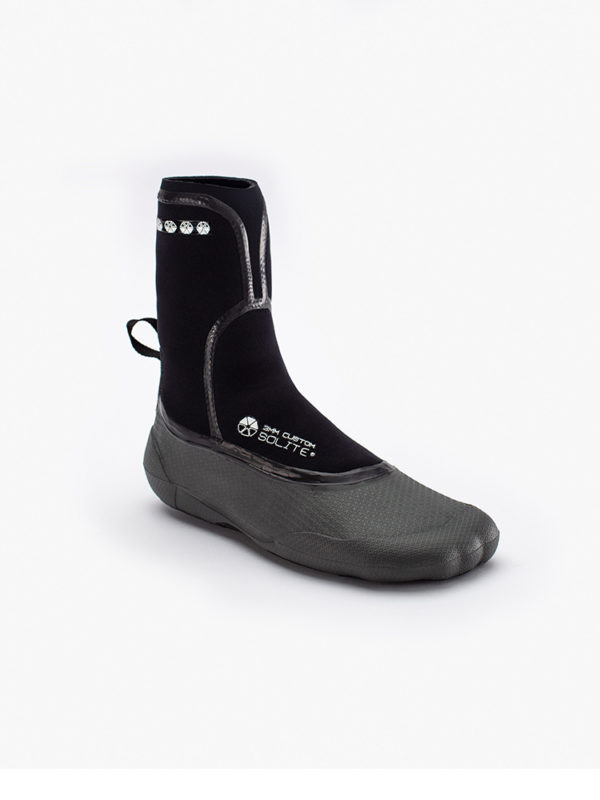 Solite 3mm Heat Mouladble Wetsuit Boots with Socks - Black Grey
