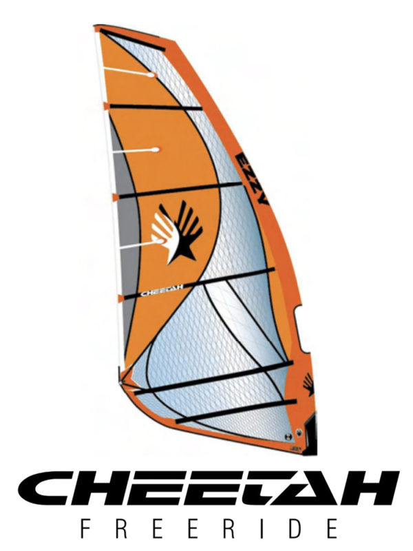 2020 Ezzy Cheetah Freeride Windsurfing Sail - Orange