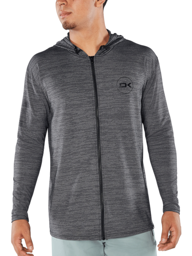 Dakine Roots Loose Fit Front Zip Surf Hoodie Long Sleeve - Black Heather
