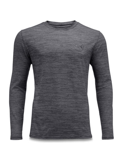 Dakine Roots Loose Fit Long Sleeve Surf Shirt - Black Heather