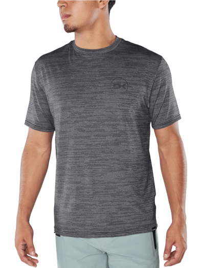 Dakine Roots Loose Fit Short Sleeve Surf Shirt - Black Heather