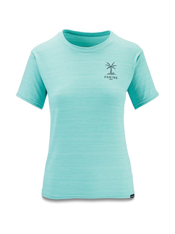Dakine Women's Dauntless Loose Fit Short Sleeve Surf Shirt - Nile Blue Heather