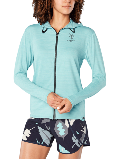 Dakine Women's Dauntless Front Zip Hoodie - Nile Blue Heather