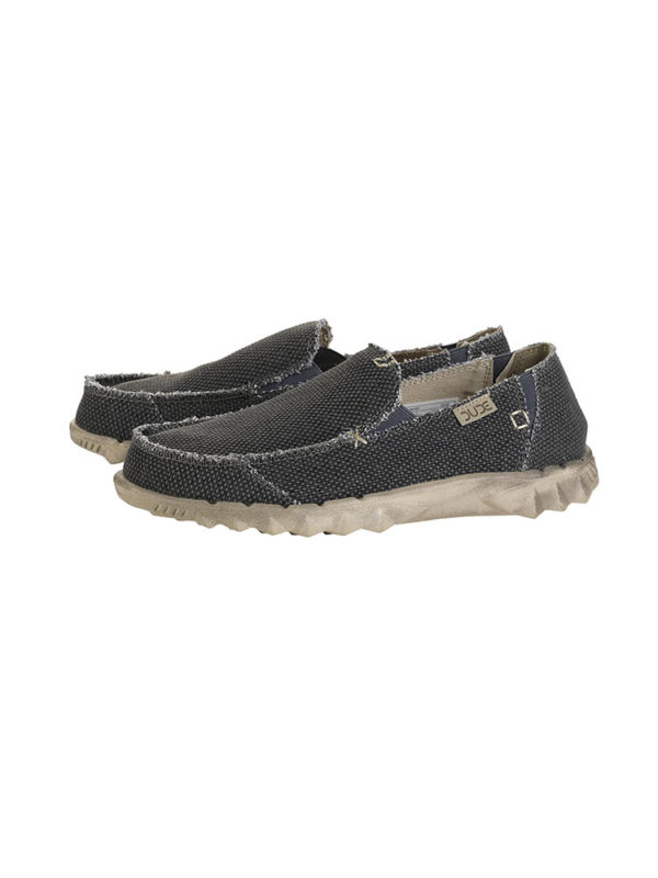 Hey Dude Shoes Farty Natural Black Organic Cotton