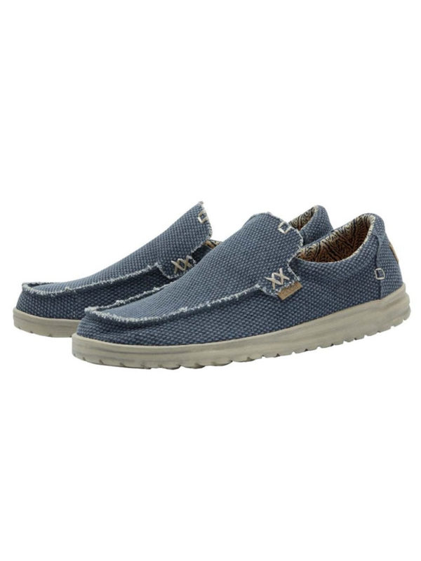 Hey Dude Shoes Mikka Natural Deep Blue