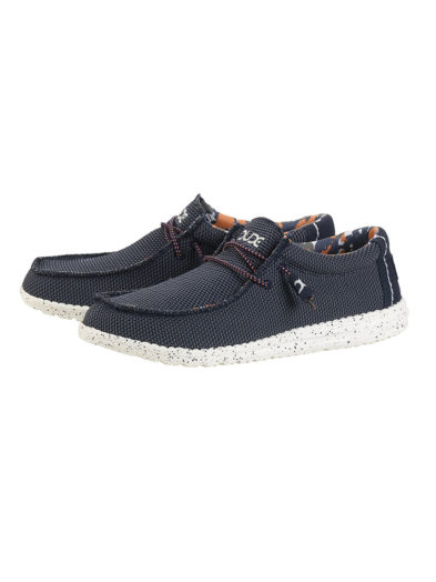 Hey Dude Shoes Wally Sox Textile Mesh Blue Multi