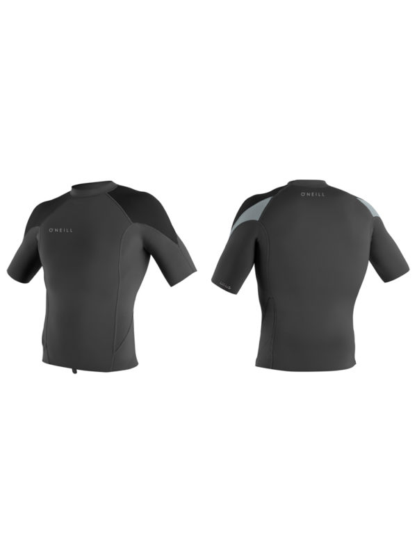 O'Neill Reactor 2 Short Sleeve 1mm Neoprene Top - Graphite/Black/Cool Grey