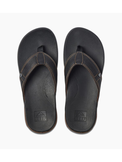Reef Cushion Bounce Lux Black/ Brown Mens Flip Flops