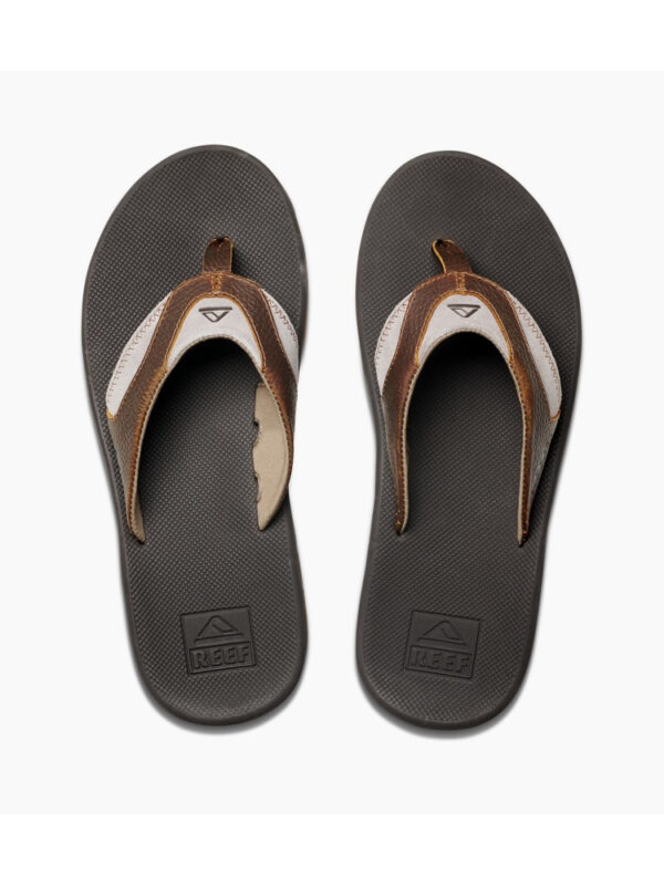 Reef Leather Fanning Brown/Brown 4