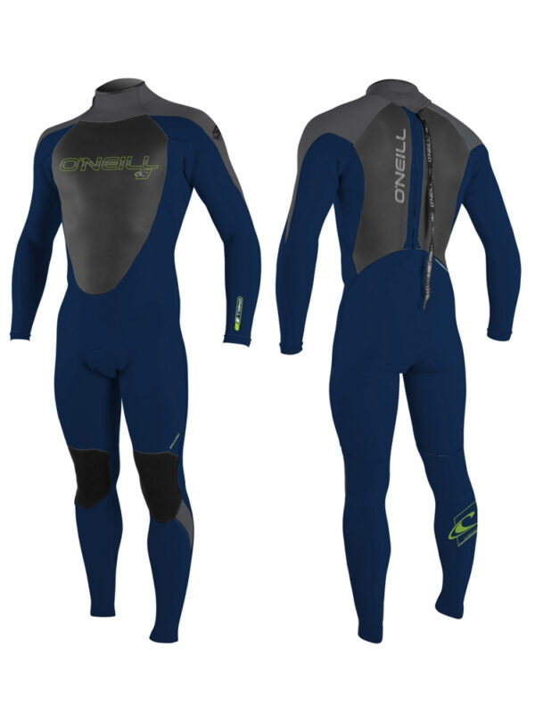 2019 O'Neill Youth Epic 5/4mm Back Zip Wetsuit – Abyss/Abyss/Smoke – Age 12