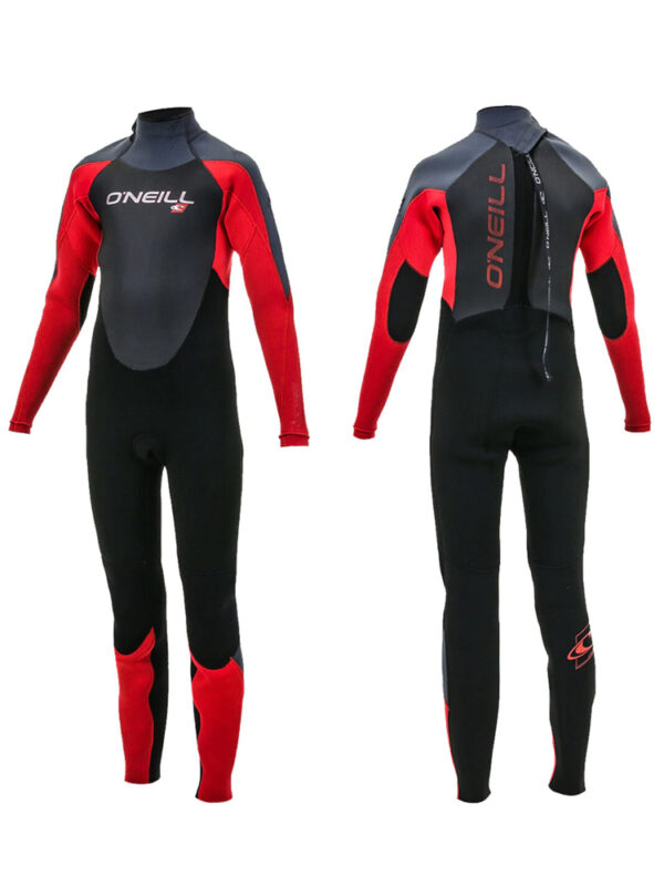 O'Neill-Youth-Epic-5-4mm-Back-Zip-Wetsuit—Black-Red-Graphite