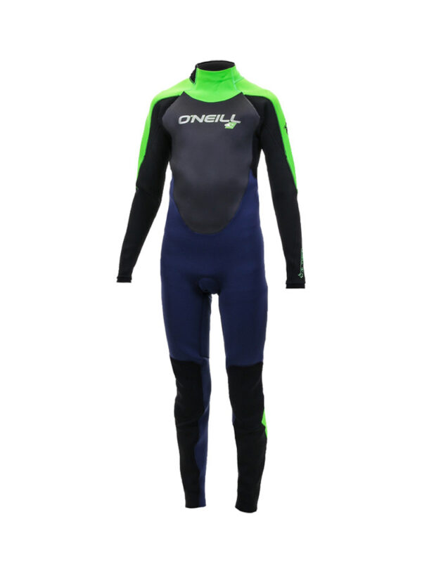 O'Neill-Youth-Epic-5-4mm-Back-Zip-Wetsuit—Navy-Blue-Day-Glow